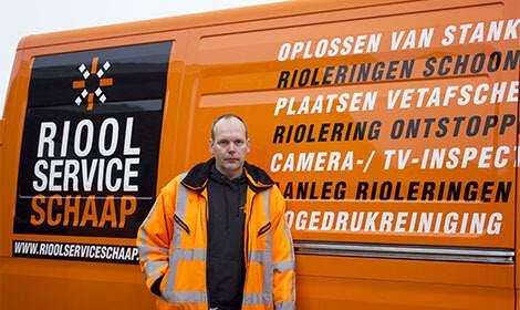 Riool Service Schaap bij busje